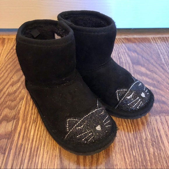 classic chic look for best selection of 2019 Toddler Black Kitty Cat Boots Size 7 EUC